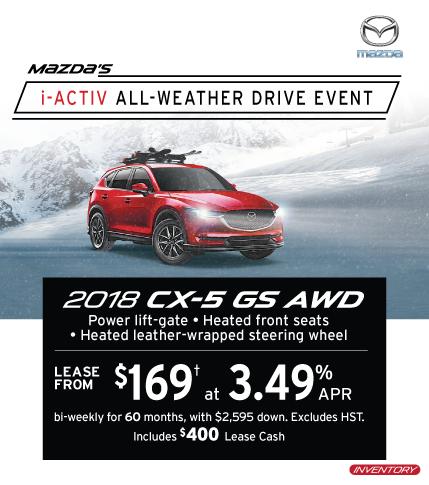 2018 CX-5 Markham Mazda Deals