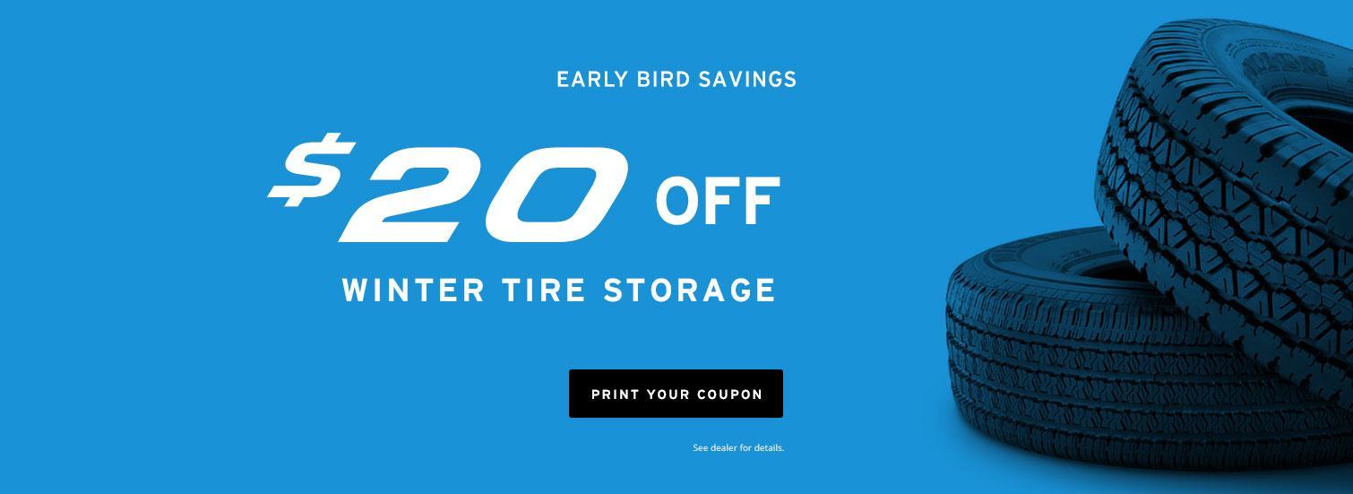 Early Bird Savings Winter Tire Storage $20 Off