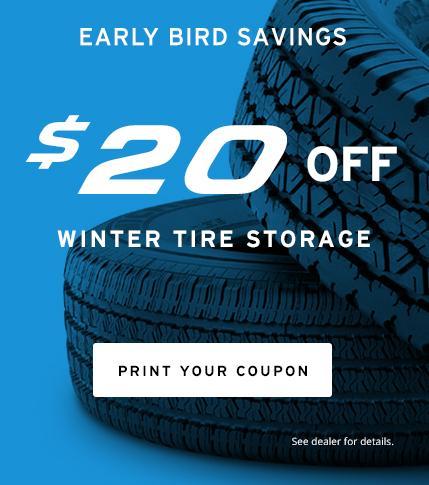 $20 off Tire Storage