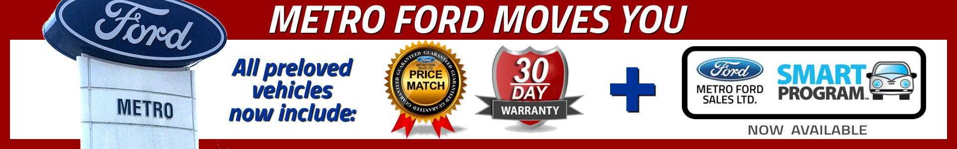 Metro Moves You - The Used Vehicle Difference at Metro Ford.