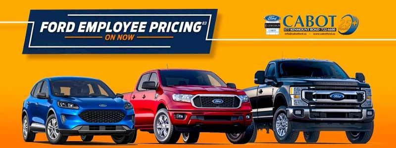 Ford employee pricing on now!