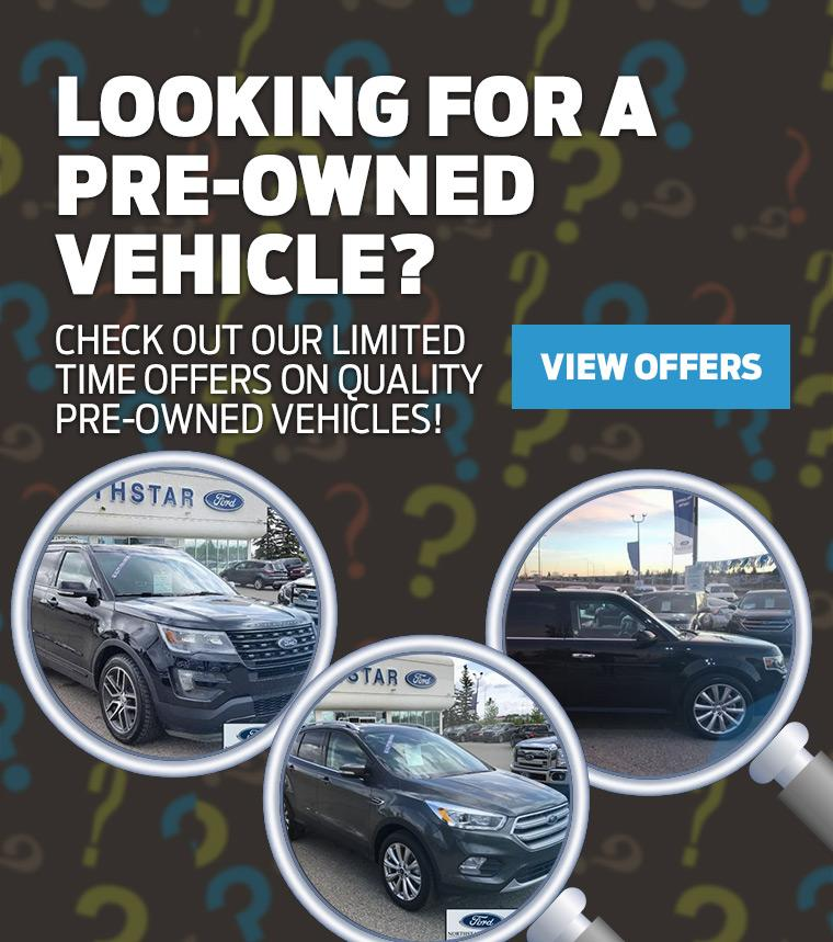 Pre-Owned Vehicles Northstar Ford Calgary