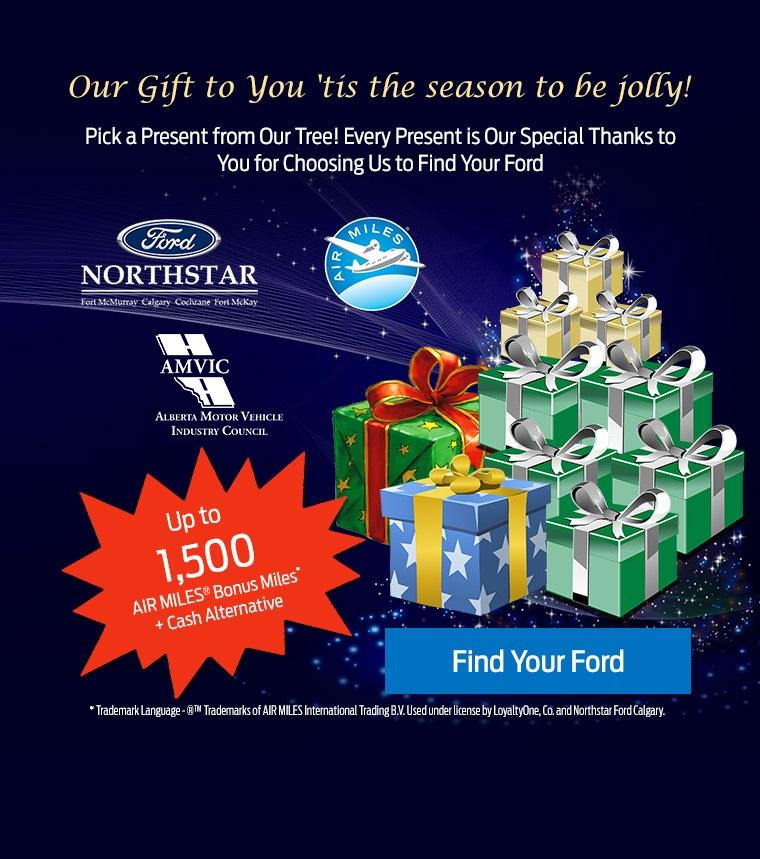 Northstar Ford Calgary Pick a Present & Air Miles