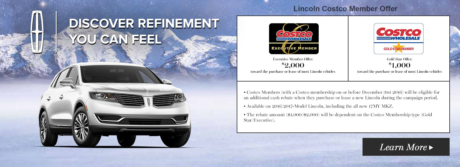 Donnelly Lincoln - Lincoln Costco Member Offer