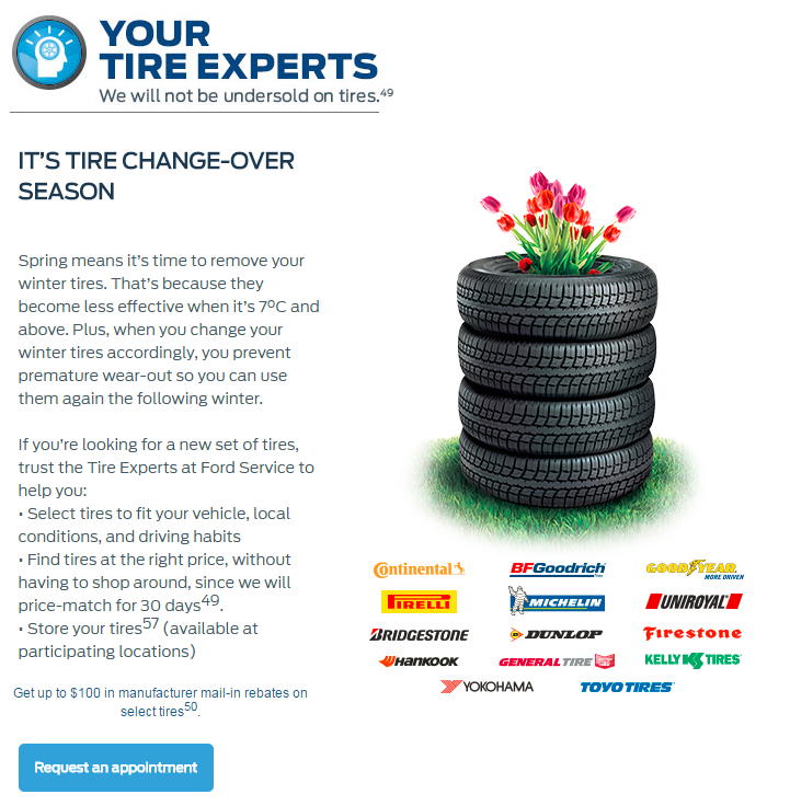 Tires offer Violette Ford