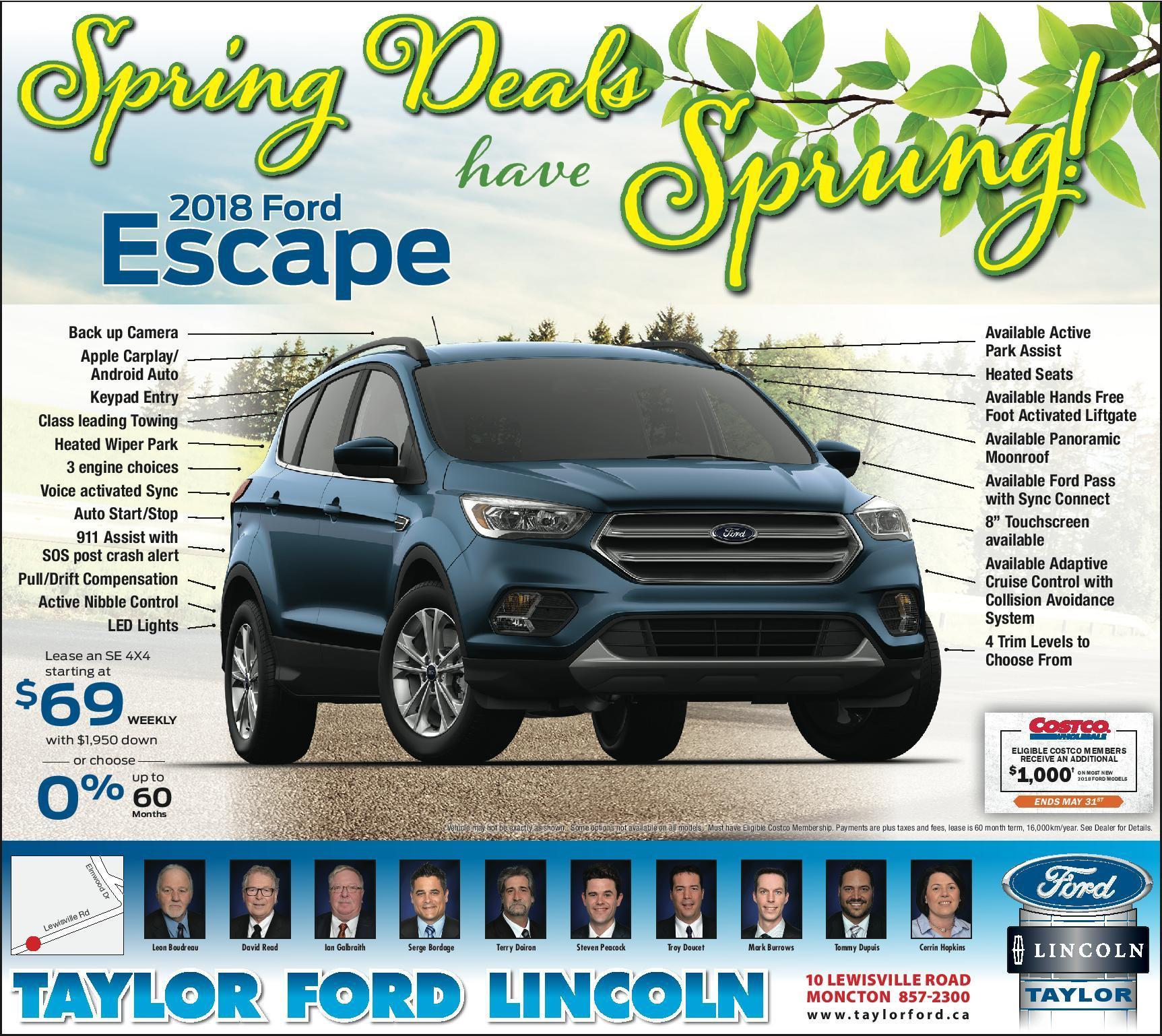 2018 Escape Spring Offer
