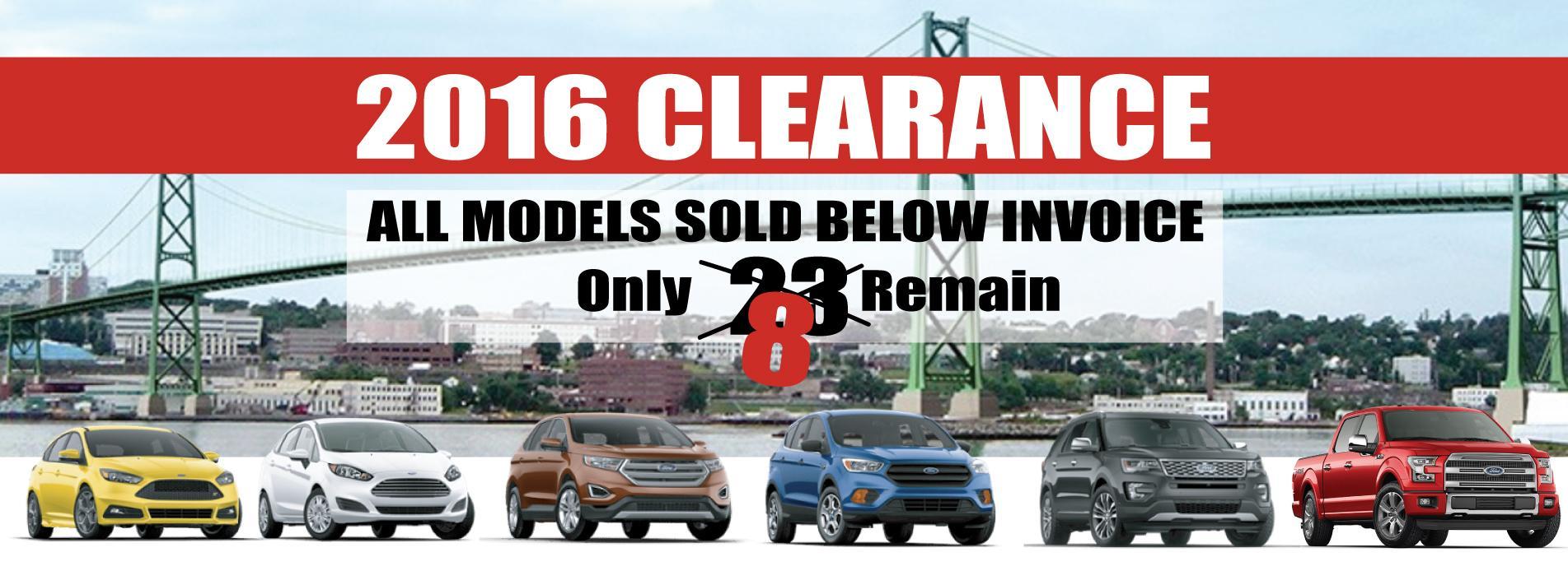 2016 Clearance