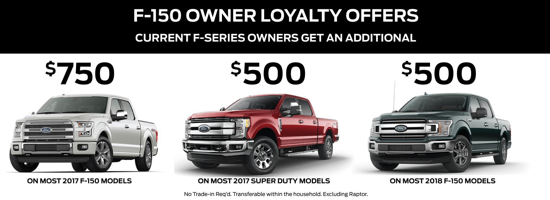 Loyalty Offer F150