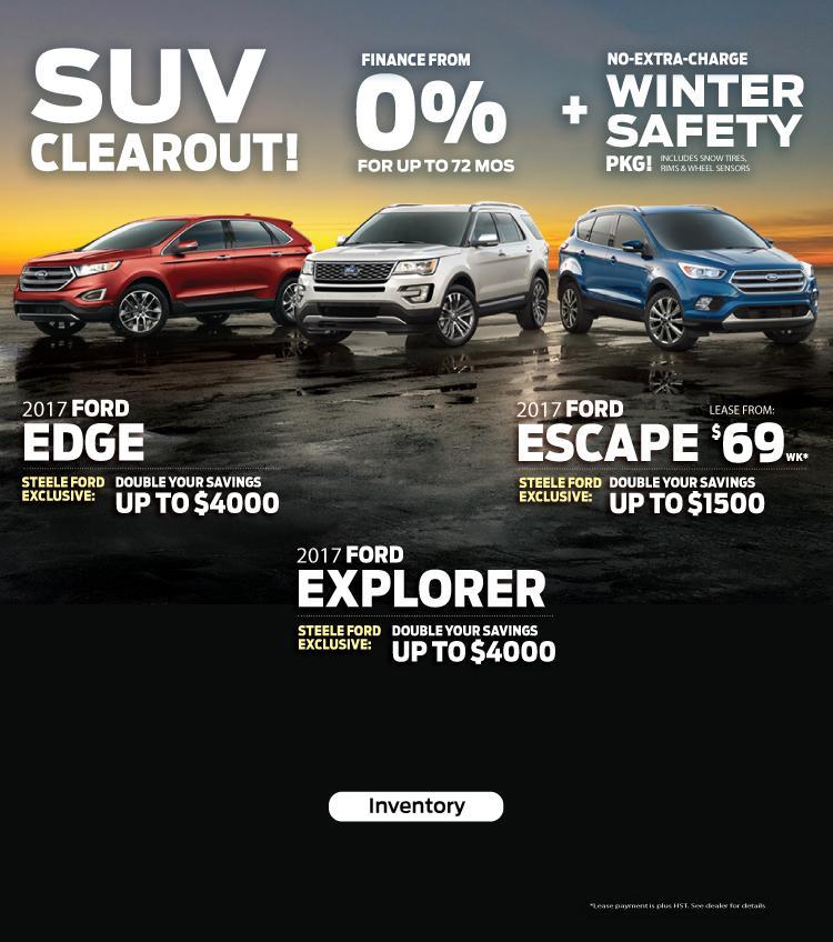 2017 SUV Clearance