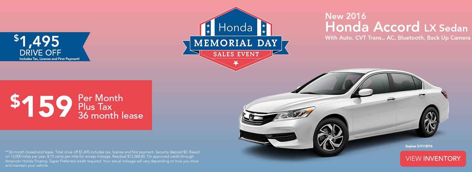 Sales Event - Honda Accord LX Sedan