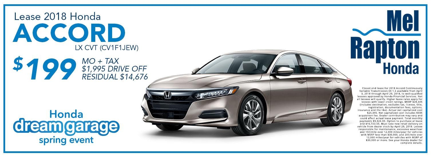 2018 Accord Lease Offer