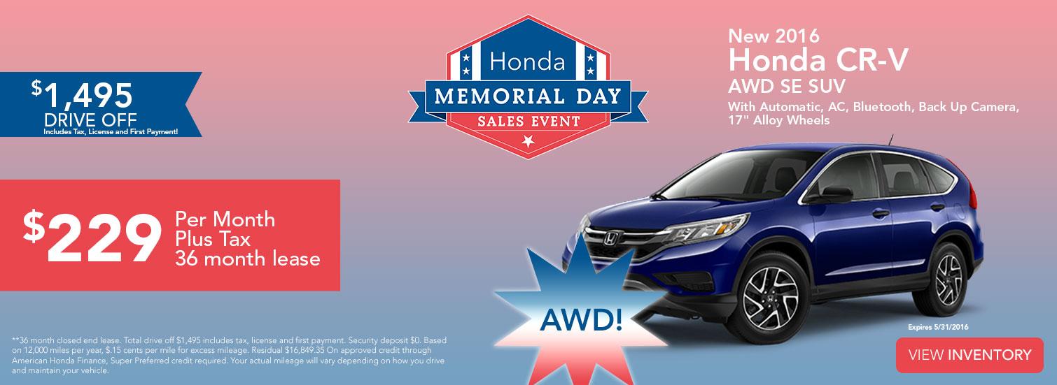 Sales Event - Honda CR-V AWD SE SUV
