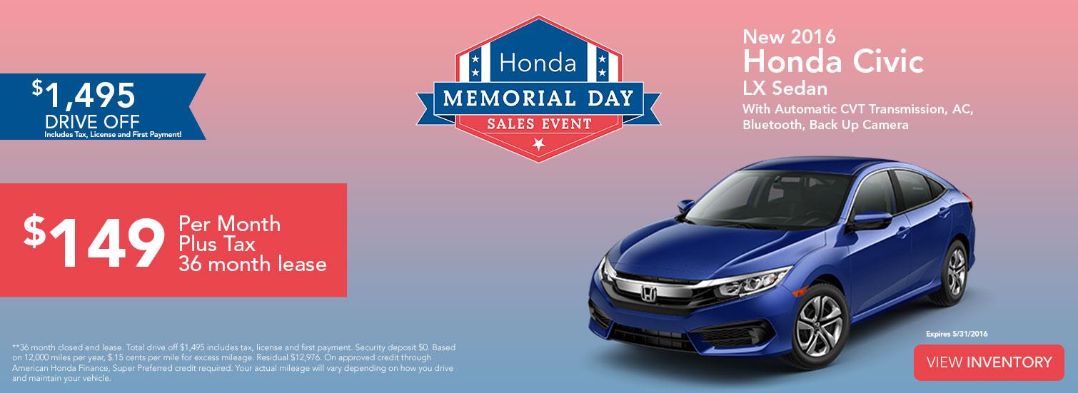 Sales Event - Honda Civic LX Sedan