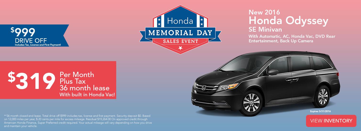 Sales Event - Honda Odyssey SE Minivan