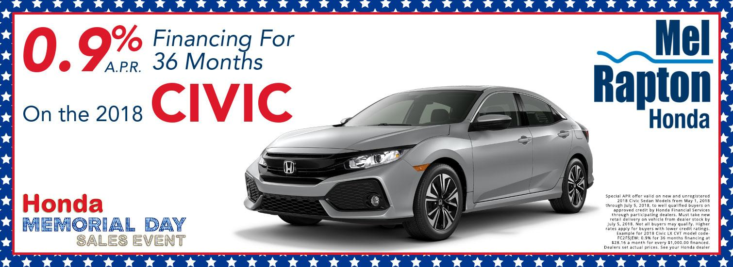 2018 Civic Finance Offer