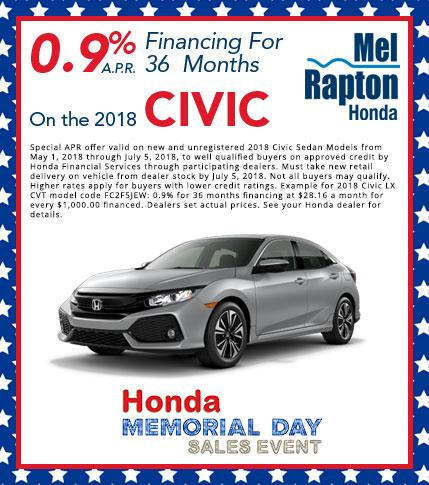 218 Civic Finance Offer