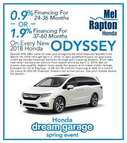 2018 Odyssey Finance Offer