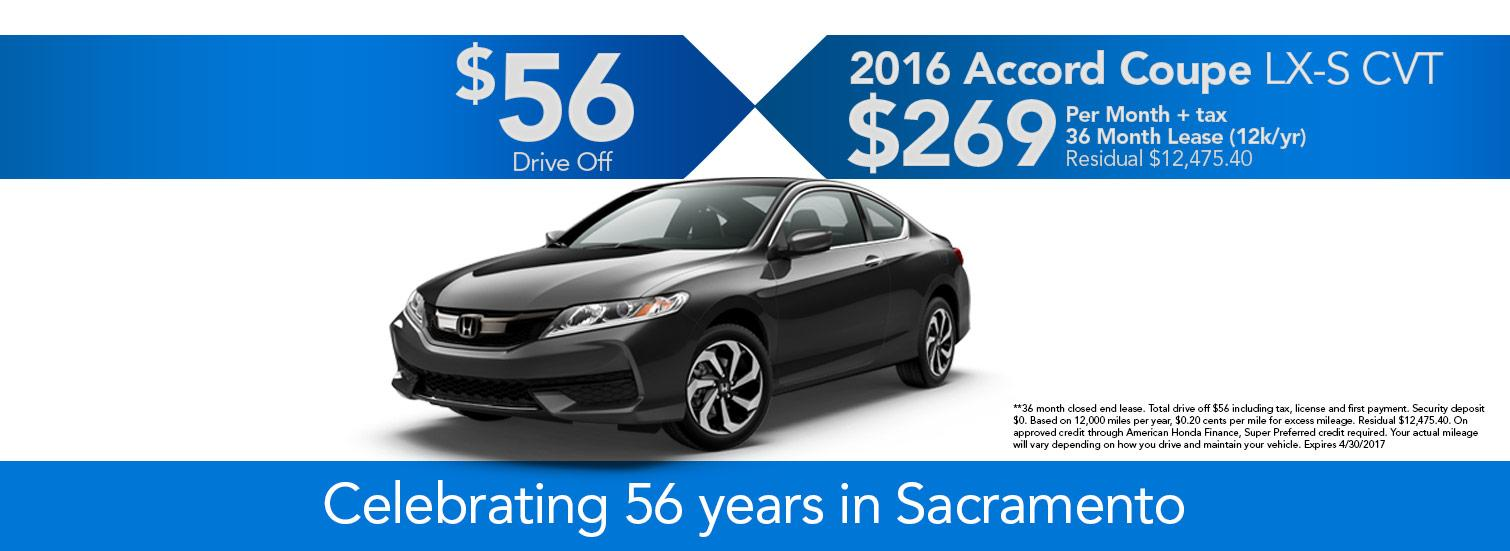 2016 Accord Coupe Offer