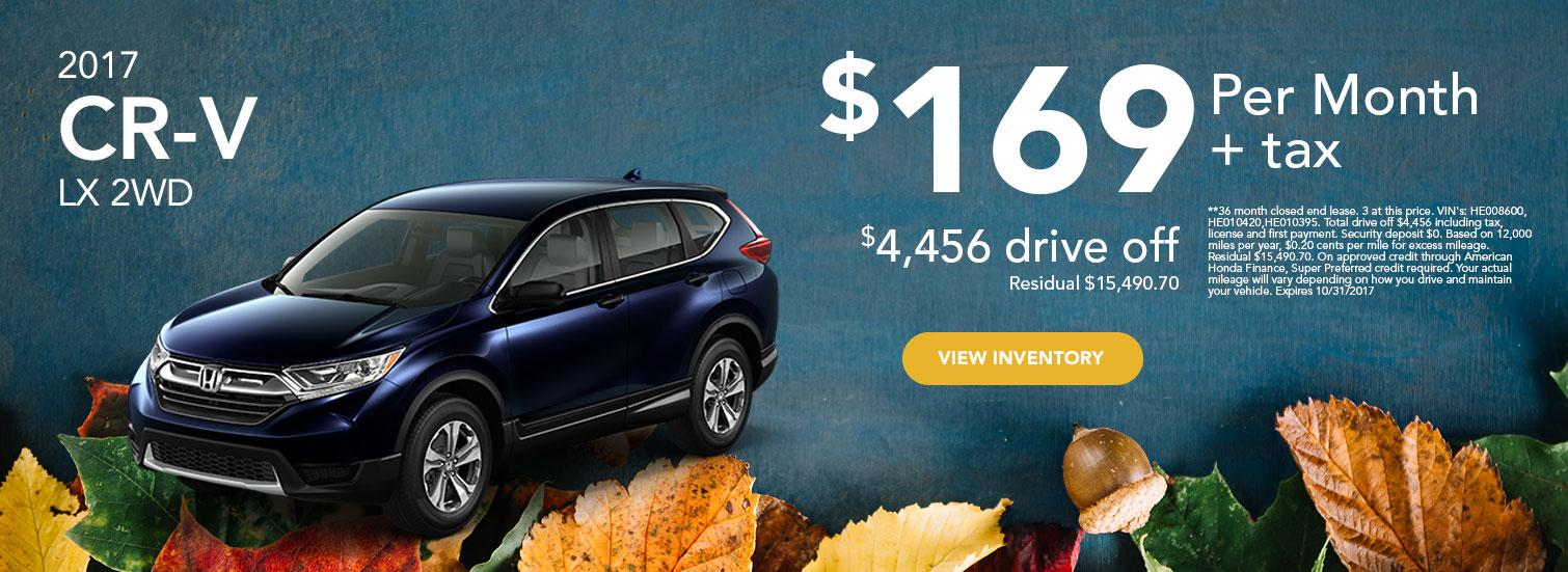 2017 CR-V LX 2WD Offer