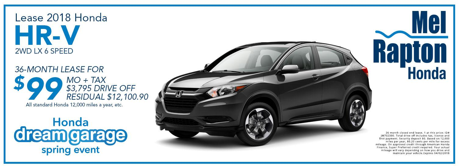 2018 HR-V Lease Offer