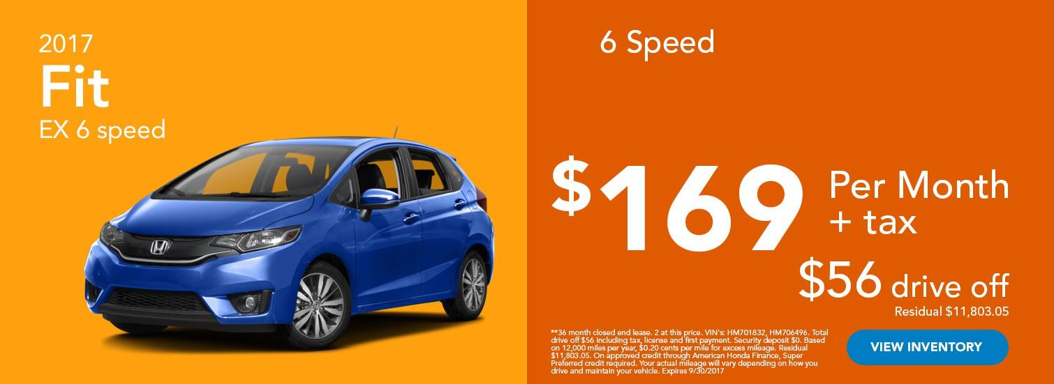 2017 Fit EX 6 Speed Offer