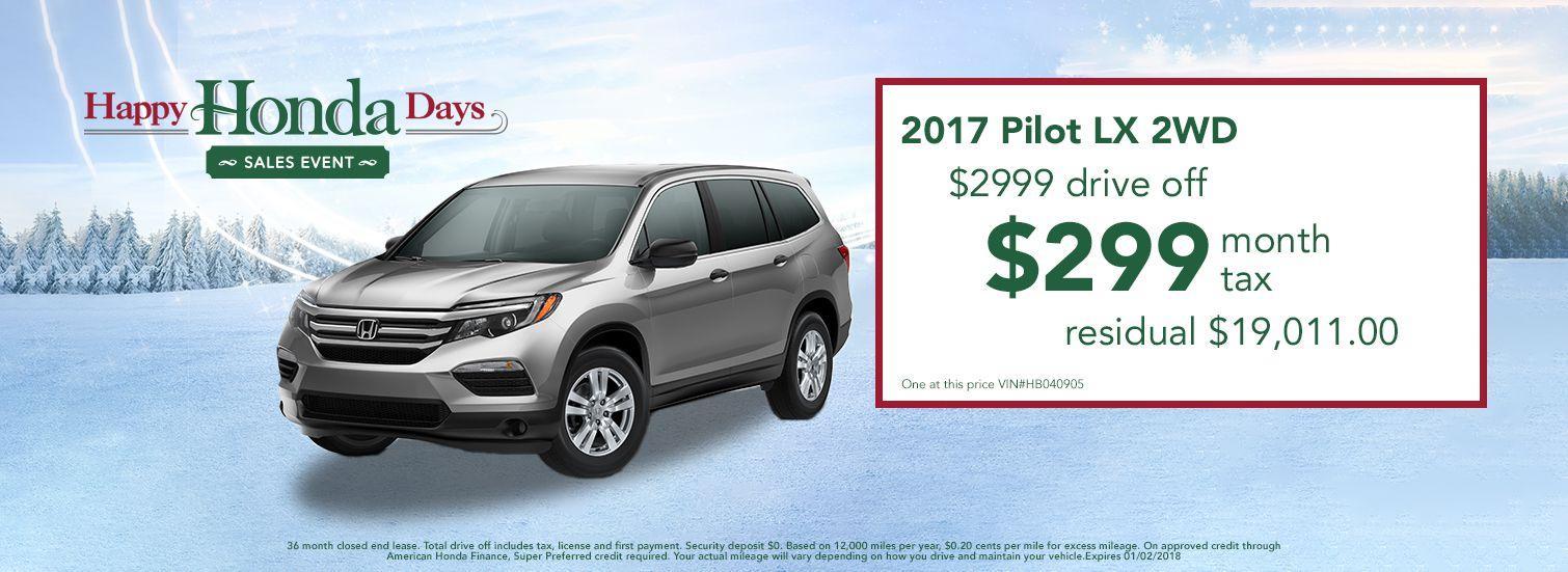 2017 Honda Pilot Lease Offer