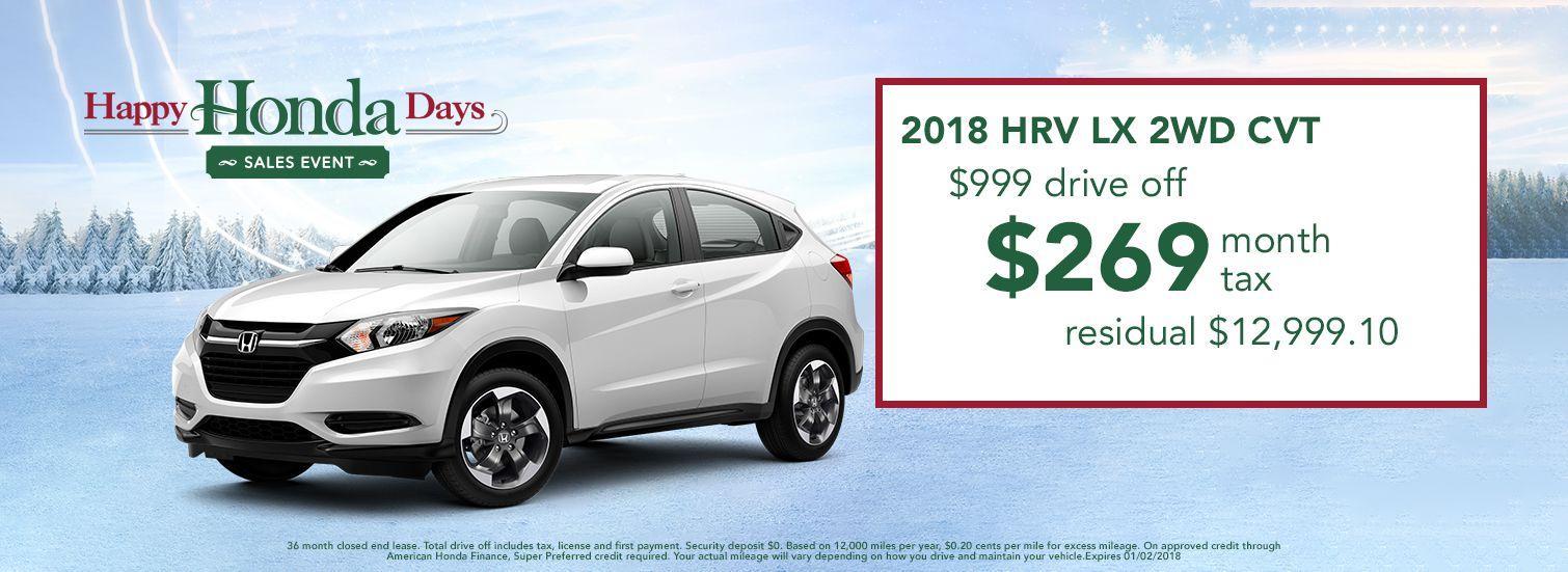 2018 Honda HR-V Lease Offer