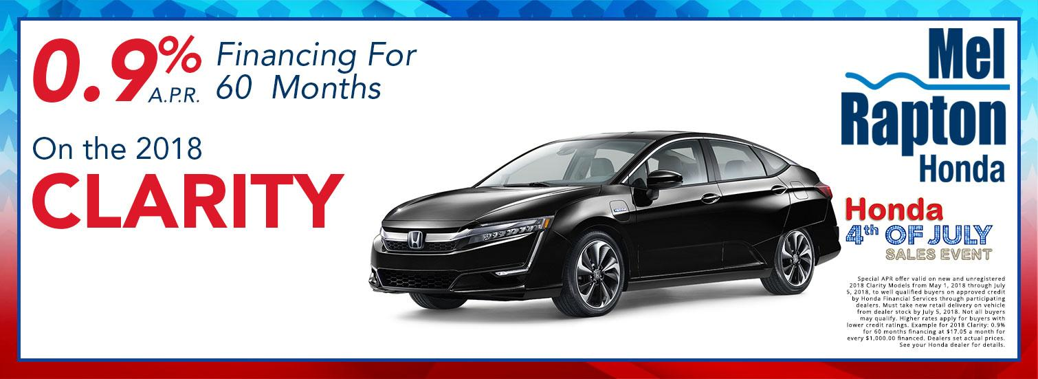 2018 Clarity July 4th Finance Offer
