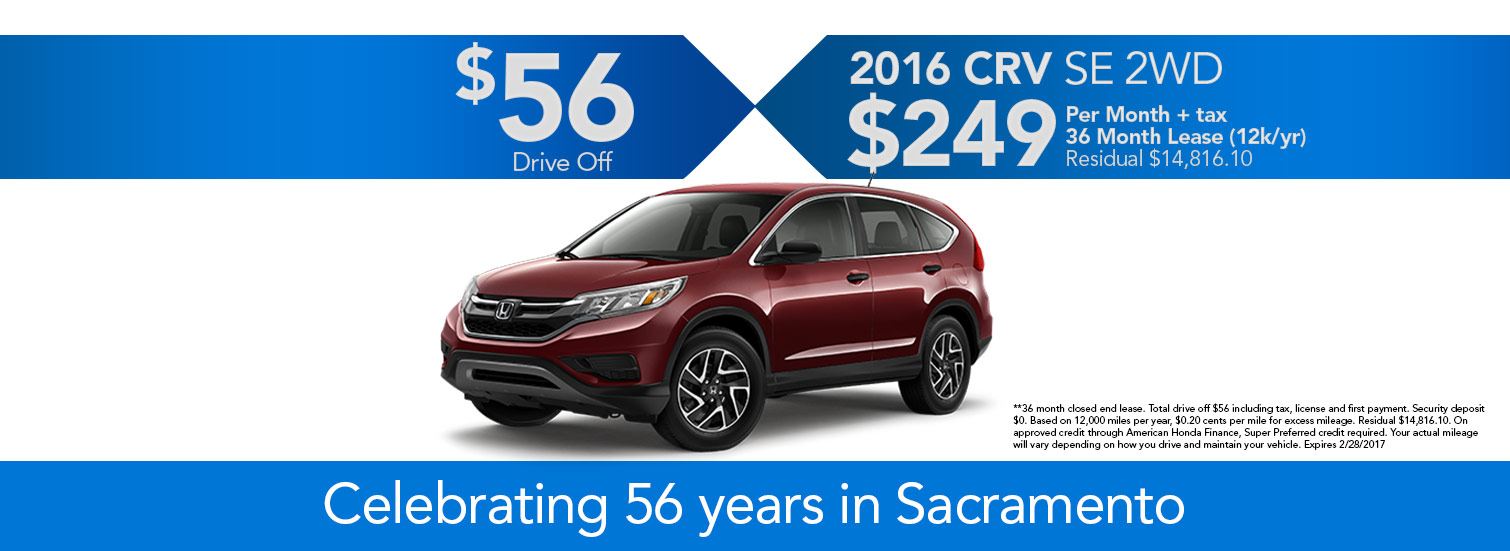 2016 CRV Lease Special