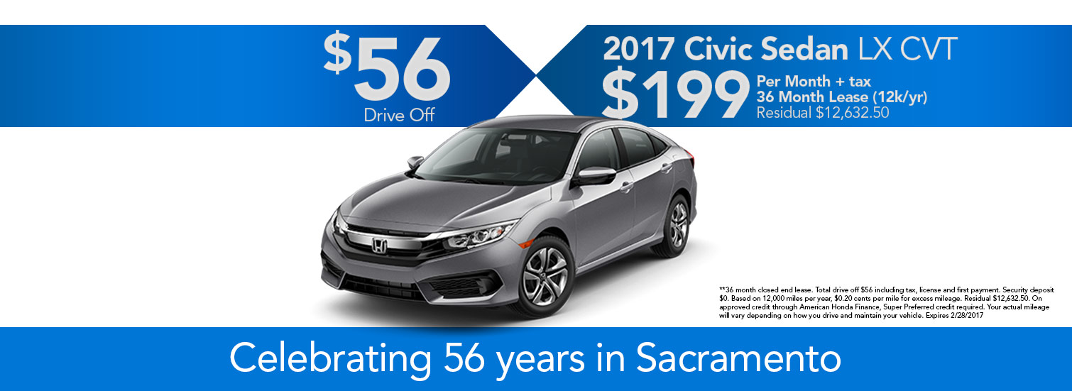 2017 Civic LX CVT Lease Special