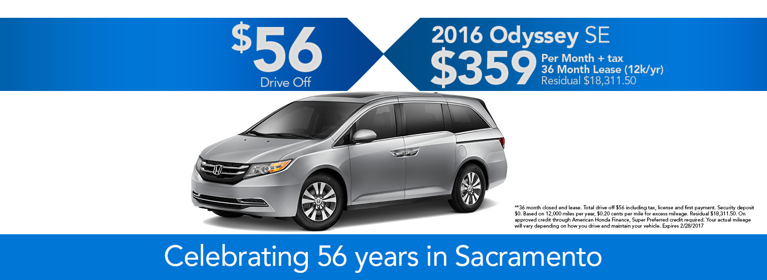 2016 Odyssey SE Lease Special