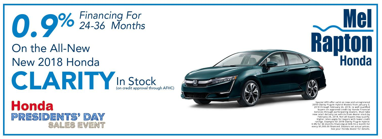 2018 Clarity President's Day Offer