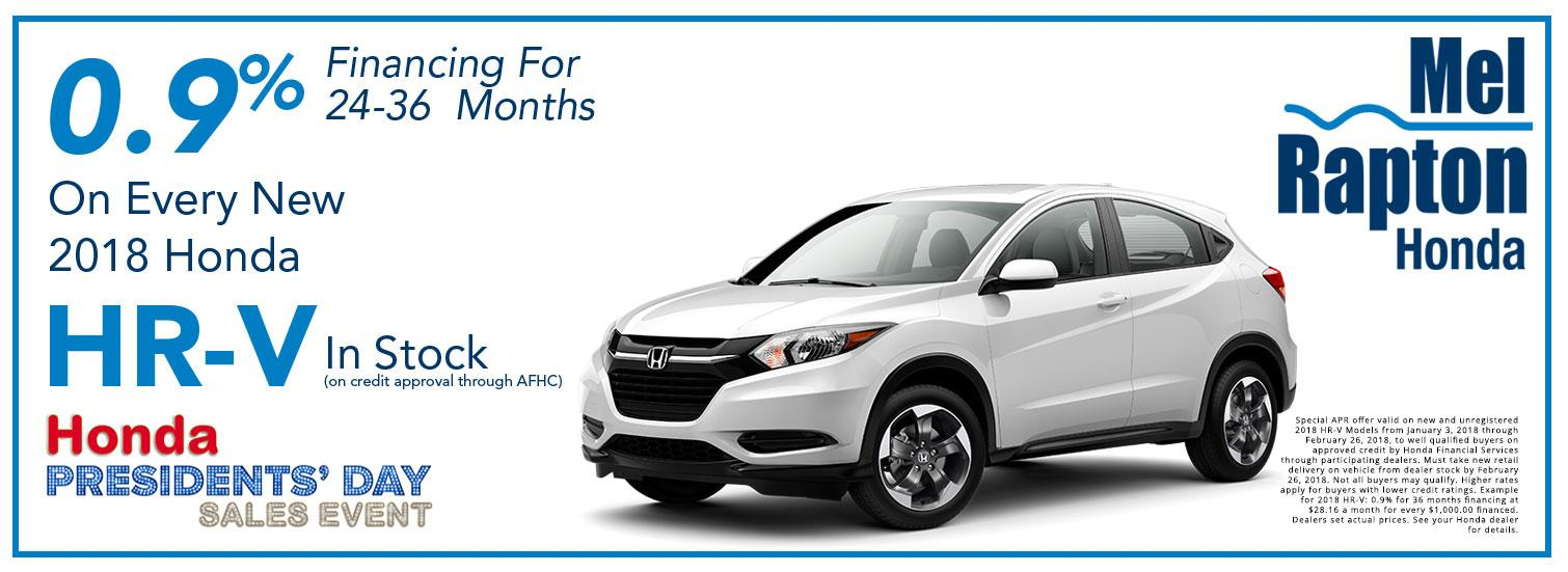 2018 HR-V President's Day Offer