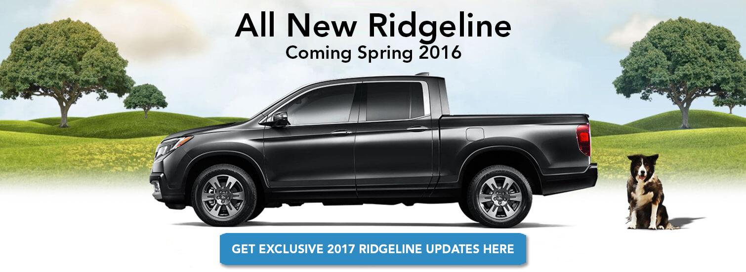 All New Ridgeline - Coming Spring 2016