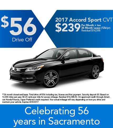 2017 Accord Sport CVT Offer