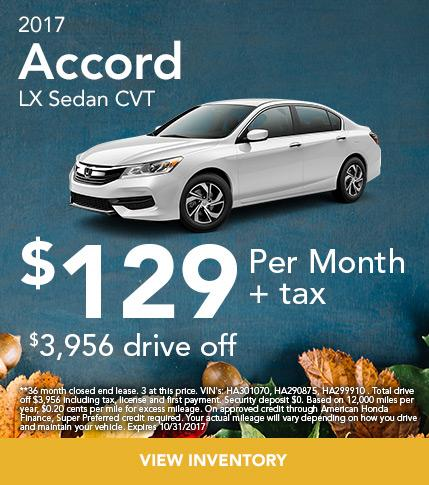 2017 Honda Accord LX Sedan Offer