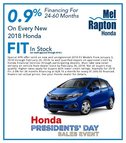2018 Fit President's Day Offer