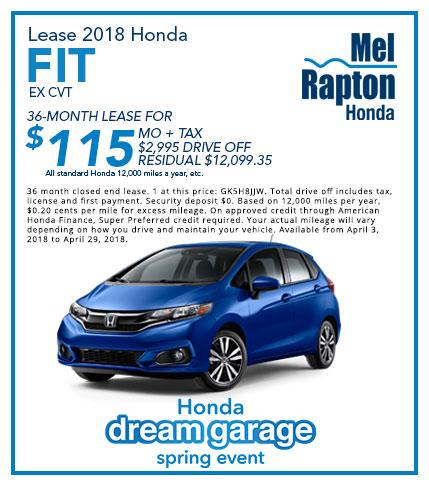 2018 Fit Lease Offer