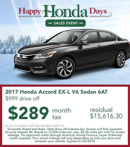 2017 Honda Accord Lease Offer