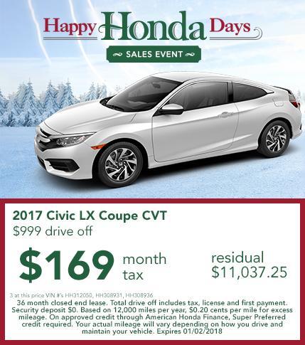 2017 Honda Civic Lease Offer