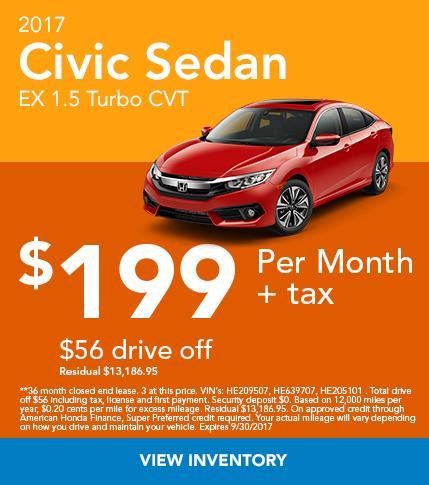 2017 Civic Sedan EX 1.5 Turbo CVT