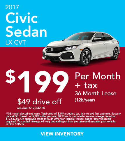 2017 Civic Lease Special