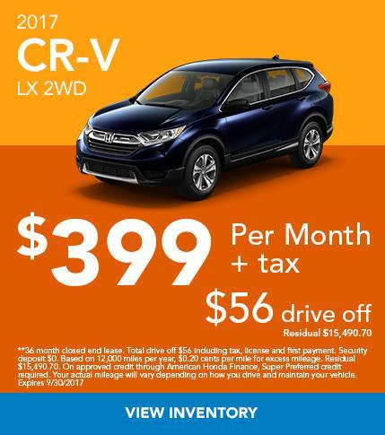 2017 CR-V VX 2WD Offer