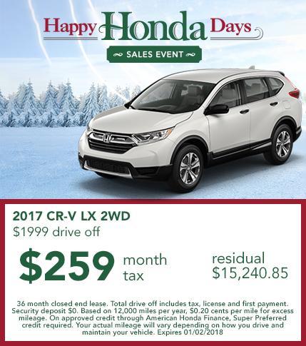2017 Honda CR-V Lease Offer