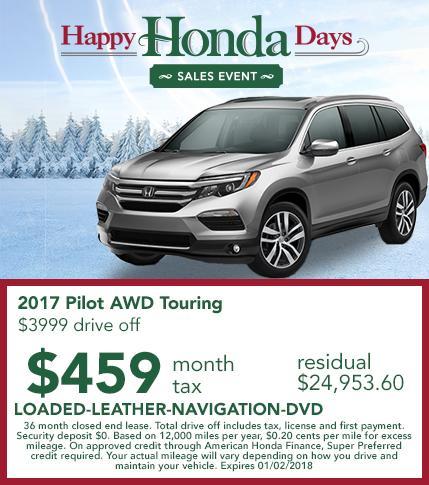 2017 Honda Pilot AWD Touring Lease Offer