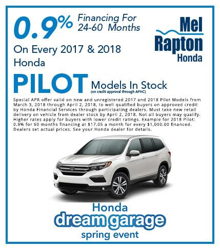 2017 and 2018 Pilot Finance Offer