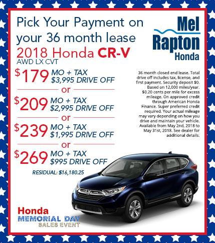 2018 CR-V Lease Offer