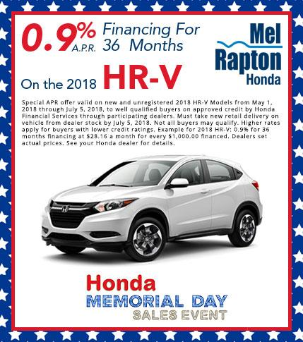 2018 HR-V Purchase Offer
