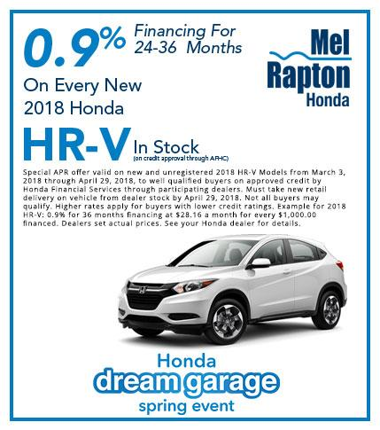 2018 HR-V Purchase Offer