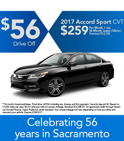 2017 Accord Sport CVT Lease Special